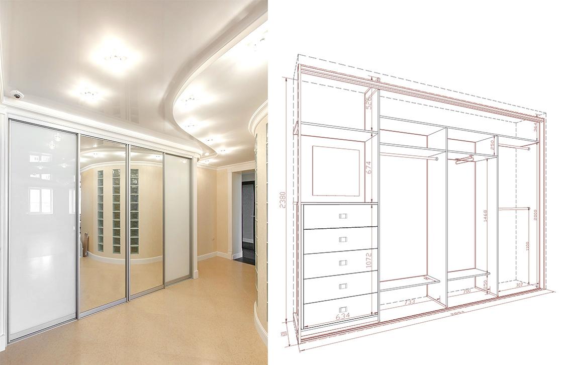 Размеры шкафы купе дизайн